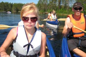 Kanotpaddling på vår fina sjö