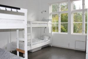 Ett utav sovrummen
