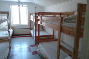 Ett utav sovrummen på Udden