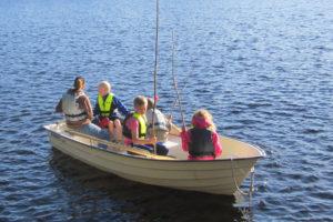 Fiske och roddbåt