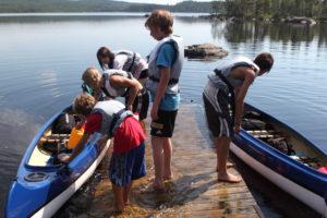 Paddling och kanotutflykt